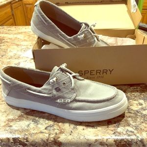 Woman's Sperry boat shoes .